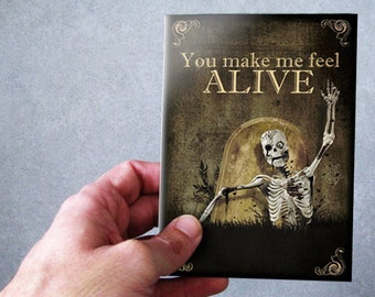 Greeting Cards,skull,skeleton,gothic,i love you card,gift,zombie,Walking dead