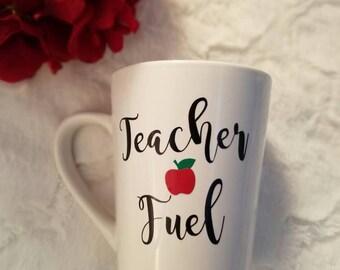 Teacher Fuel Mug, Teacher Gift, School Wine Glass , Teacher Appreciation , Teacher Gift