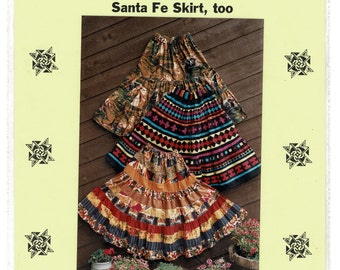 Misses Western Skirt Sewing Pattern Santa Fe Skirt, Rows of Ruffles, Ranch Dressing Broomstick Skirt Barb Hartman All women sizes Unused