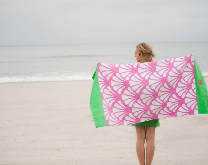 Monogrammed Beach Towel, Monogram Beach Towels, Monogrammed gifts, Bridesmaid gifts, Preppy Monogrammed Beach Towels, Grad Gifts