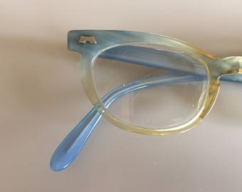 Vintage 50s Blue Frame Eye Glasses
