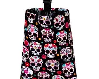 Car Trash Bag - Sugar Skulls and Flowers
