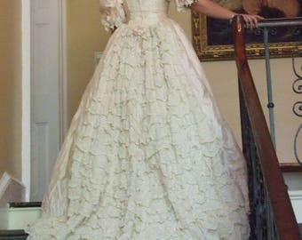 Vintage 'Diana Designs' Pure Silk Wedding Dress, Size 12