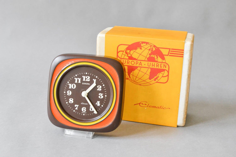 70s Pottery Clock 70s Wall Clock 70s Home Decor Europa