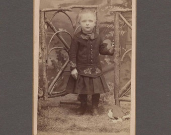CDV of a Beautifully Dressed Little Boy