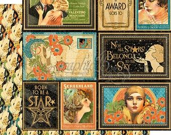 "Sale-Graphic 45 ""Vintage Hollywood-Spotlight"""
