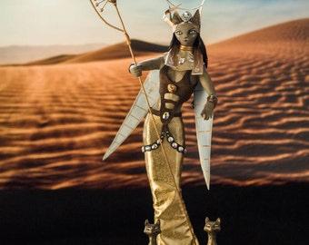Bastet. OOAK doll Egyptian Goddess Cat