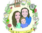Custom Portrait - Custom Family Portrait - Custom Illustration for Weddings, Birthdays, Special Occasions!