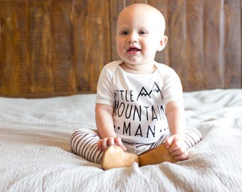 Baby Boy Gift, Baby Boy Clothing, Baby Shower Gift, Woodland Baby Shower, Little Man, Toddler, Mountain Man Newborn Shirt - SHIRT ONLY