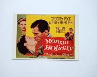 Vintage Roman Holiday Postcard - Audrey Hepburn Print