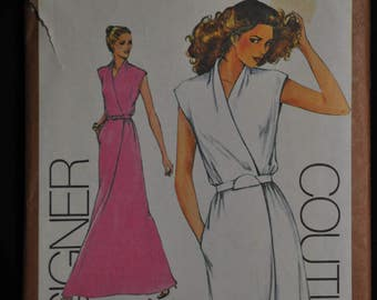 Misses'  Mock Wrap Dress Pattern - Size 10 - UNCUT - A Cathy Hardwick Design - Simplicity 9518