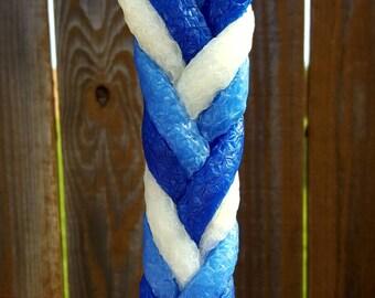 Havdalah - Mayim (Water) - 6 wick braided - 100% Natural Beeswax Candle