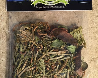Canadian Forest Walk loose incense burning smudge, calming sage blend, fire toss