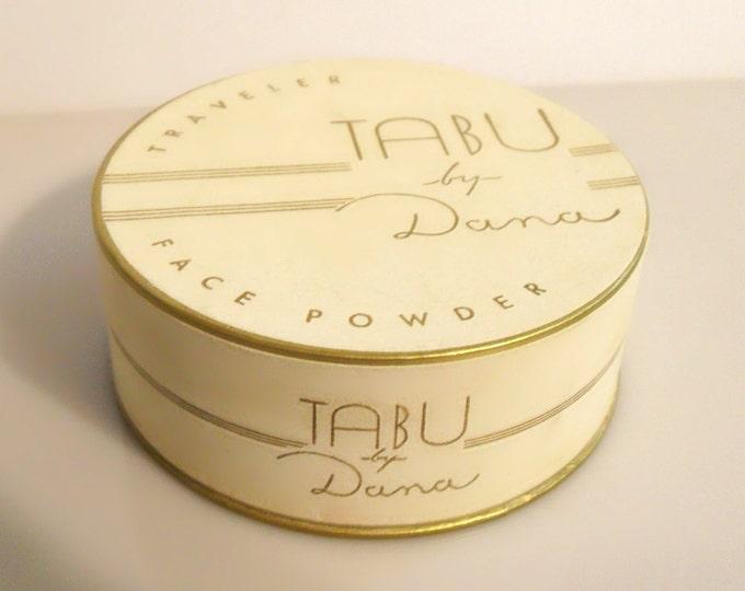 Vintage 1940s Tabu by Dana 1.5 oz Perfumed Traveler Face Powder Box