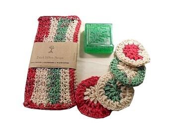 Christmas Bath Set, Christmas Spa Kit, Xmas Bath Set, Christmas Soap Set, Spa Kits & Gifts, Gift for Her, Gift for Mom, Wife Gift
