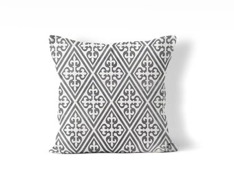 French country pillow cover, gray pillow, French country cottage chic, fixer upper style classic pillow decorative pillow cover, neutral