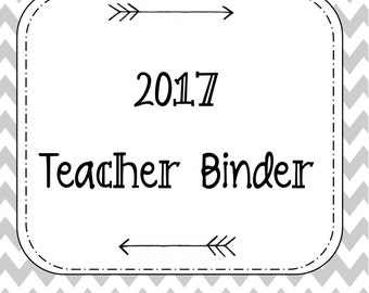 2017 Teacher Planner. Teacher Binder. School Binder. 2017 Year. Calendar.