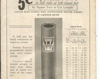 Vintage 1927 Warners Spring Flyer Catalog