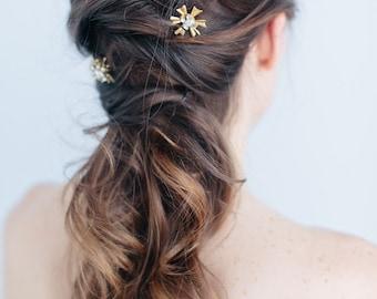 Bridal Hair Pins - Celestial Bridal Hair Pin Set, Crystal Bridal Hair Pins, Set of three, Abigail Grace Bridal