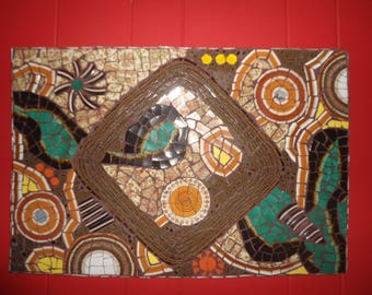Abstract Mosaic Wall Hanging / Picture / 3D