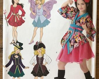 UNCUT Teen Girl's Halloween Costume Sewing Pattern Simplicity 2069 Size 7-8-10-12-14 Halloween Costume, Princess, Harajuku, Fairy