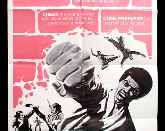 5 FINGERS OF DEATH original 1973 movie poster martial arts kung fu