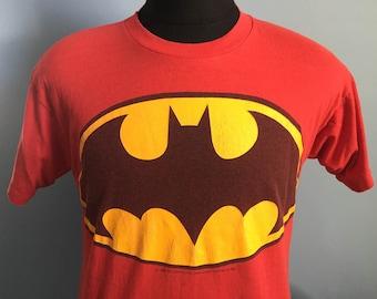 80s Vintage Batman DC Comics super hero T-Shirt - MEDIUM