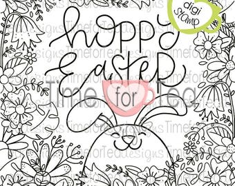 Hoppy Easter Colouring Page