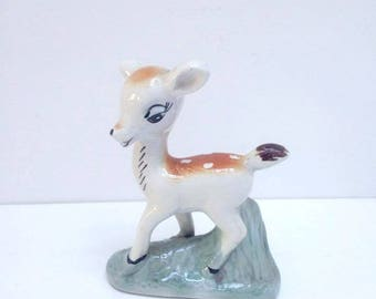 Vintage Deer Fawn China Figurine