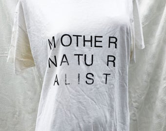 mother naturalist tshirt hanes classics large undershirt that was once my dad's shirt