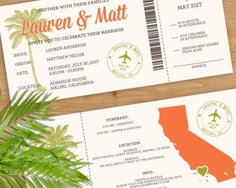 boarding pass wedding invitation  etsy, invitation samples