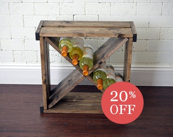 Wine Rack - Wine Cube - Wine Storage - Wine Gift - Storage and Organizer - Wood Storage