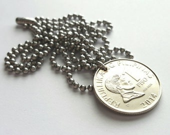 2014 Filipino Coin Necklace  - Stainless Steel Ball Chain or Key-chain - Philippines
