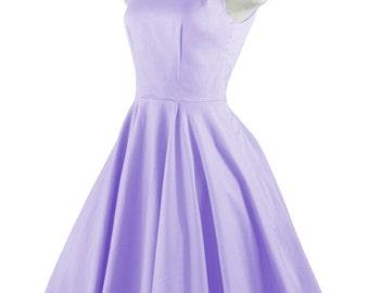 CHLOE Lilac Purple Rockabilly Swing Rock 'n Roll Dress//Full Circle Lilac Dress//Retro 50s Style Dress//Bridesmaid, Party Dress XXS-3X