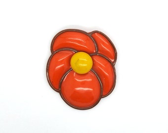Poppy brooch, statement brooch, poppy flower pin, best wife gift, mom jewelry, flower brooch, poppy pin, red flower brooch, poppy jewelry