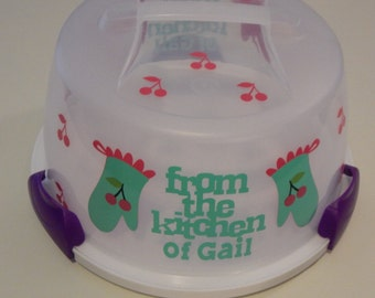 Personalized From The Kitchen Of Cake Carrier