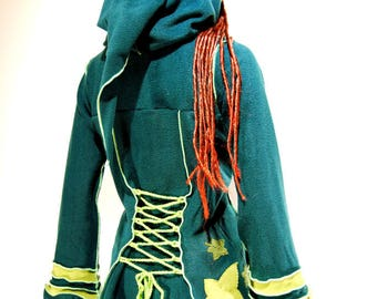 Green corset coat