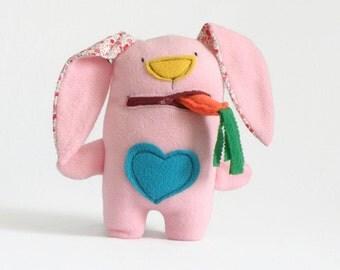 Pink Bunny Plush, Bunny Rabbit Stuffed Animal, Baby Shower Gift, Stuffed Bunny, Plushie for Girls, Plush toy, Stuffed Rabbit, Gift New Baby