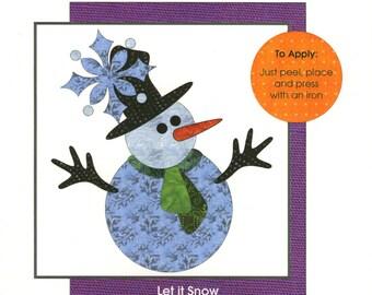 Let It Snow - Laser Cut Iron-on Fabric Pieces - by Applique Elementz (UEA-0922)