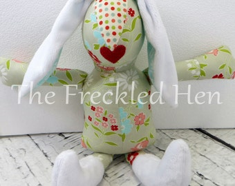 Stuffed animal bunny rabbit handmade doll stuffed easter bunny sensory toy easter bunny  plush hand made doll minky red lips