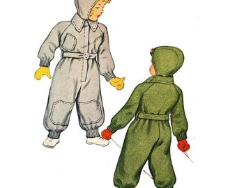 McCall 5831 Boys' Vintage 1940s Snow Suit Sewing Pattern
