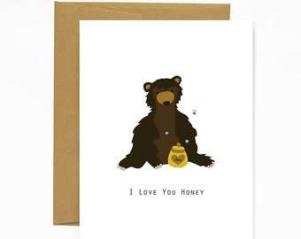 I Love You Honey - Greeting Card