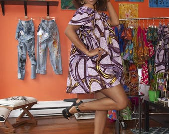 African Clothing: N Y O T A Off the Shoulder Dress