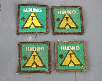 Vintage Patches Outdoors Hiking Patches Cabin Decor Vintage Girl Scouts Boy Scouts Wilderness Explorer Travel Adventure Sew On Patches
