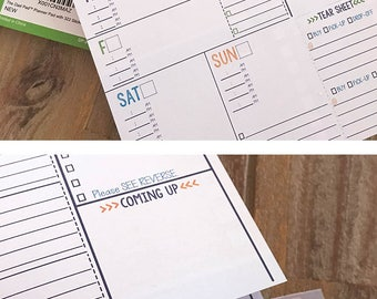 NEW Item! The Dad Pad® 60 page weekly planner pad w/ 322 man stickers, lists, tear sheet by the makers of Reminder Binder® Ships NOW!