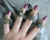 midi ring SET boho rings, festival knuckle rings armor rings nail claw rings gothic rings victorian moon goddess ring boho rings