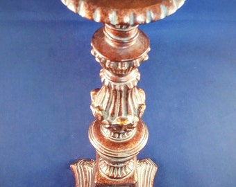 "Ornate Pillar Candle Holder - 12"" Tall"