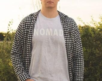 Boho Nomad Tee - 3 colors - Bohemian Unisex Travel T-Shirt - Peach | Gray | Light Blue