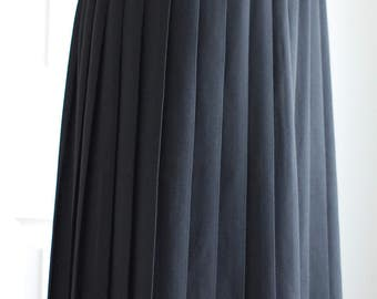Black Pleated Skirt Leslie Fay Size 8P