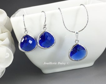 Dangle Earrings, Bridesmaid Necklace, Bridesmaid Gifts, Blue Earrings, Designation Wedding, Summer, Gifts for Her Cobalt Blue Earrings